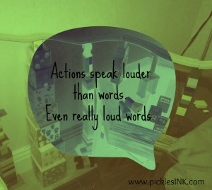 Actions louder than words