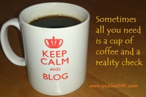 cup of coffee and reality check