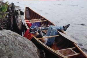 Meg in canoe (2)