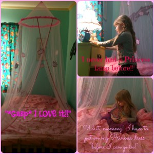 Princess Bedroom collage