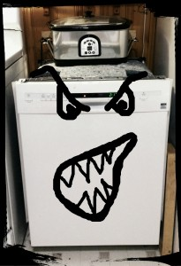 Scary dishwasher