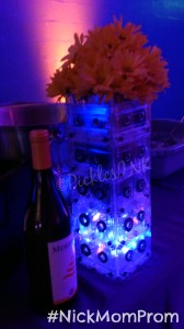 Retro dance party decor idea - vase made out of old cassette tapes #NickMomProm