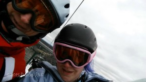 Father-Daughter Chairlift Selfie - New Year's with #TeamPickles www.picklesINK.com