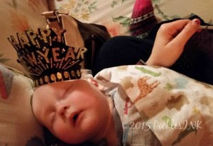 Baby William, asleep with excitement - New Year's with #TeamPickles www.picklesINK.com