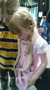 Children at a reptile show.
