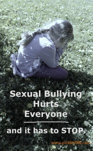 Sexual Bullying Hurts Everyone and it has to STOP - www.picklesINK.com